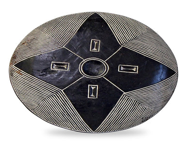 African Bamileke Wood Shield 5