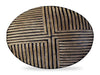 DAMAGED 30% Off African Bamileke Carved Tribal Wood Shield Quartered