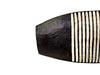 Long Carved Wooden Shield - Black Tip