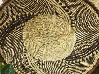 African Woven Wall Basket  - 47