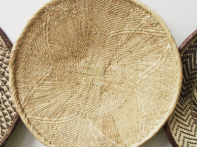 African Woven Wall Basket 47