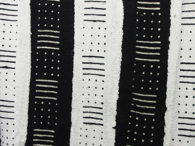 Black Mudcloth Wall Hanging with tassels