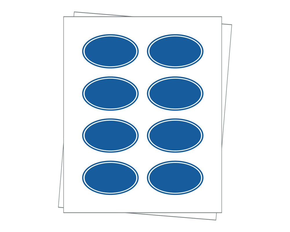 Oval Sheet Labels