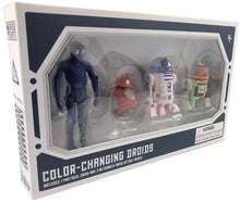 Load image into Gallery viewer, Galaxy's Edge Color-Changing 1 Protocol and 3 Astromech Droid Action Figure Set - 4 Pack