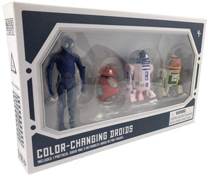 Galaxy's Edge Color-Changing 1 Protocol and 3 Astromech Droid Action Figure Set - 4 Pack