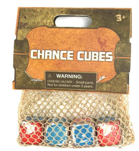 Load image into Gallery viewer, Galaxy's Edge Exclusive Chance Cubes Sabaac Dice Red Blue