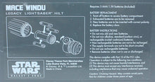 Load image into Gallery viewer, Galaxy's Edge Mace Windu Legacy Lightsaber Hilt Instructions