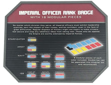 Load image into Gallery viewer, Galaxy's Edge Empire Imperial Officer Rank Badge Set with 18 Modular Pieces
