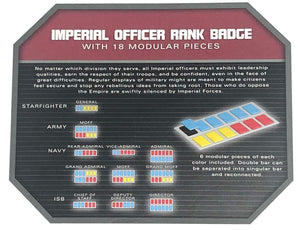 Galaxy's Edge Empire Imperial Officer Rank Badge Set with 18 Modular Pieces