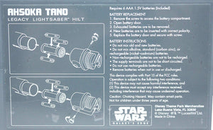 Galaxy's Edge Ashoka Tano Legacy Lightsaber Hilts Instructions