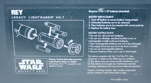 Galaxy's Edge Rey Legacy Lightsaber Hilt Instructions