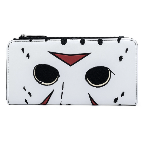 Loungefly Friday The 13th Jason Mask Flap Wallet Front