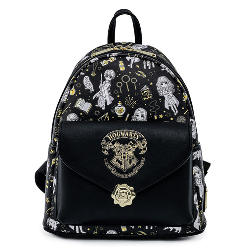 Loungefly Harry Potter Magical Elements AOP Mini Backpack - Pre-Order May