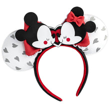 Load image into Gallery viewer, Loungefly Mickey and Minnie Love Headband Ears