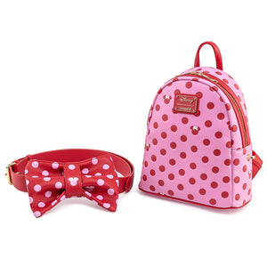 Loungefly Disney Minnie Mouse Pink Bow 2 in 1 Fanny/Mini Backpack - Pre-Order January