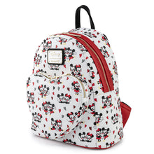 Load image into Gallery viewer, Loungefly Disney Mickey and Minnie Mouse Heart AOP Mini Backpack