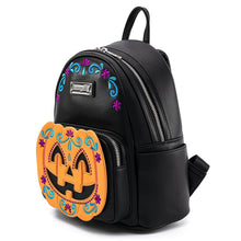 Load image into Gallery viewer, Loungefly Halloween Pumpkin Mini Backpack Alternate Side