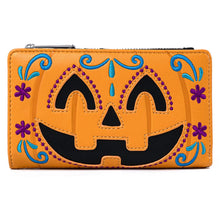 Load image into Gallery viewer, Loungefly Halloween Pumpkin Flap Wallet Front