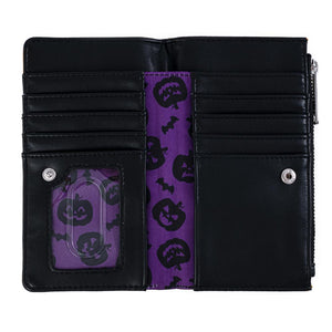 Loungefly Halloween Pumpkin Flap Wallet Open