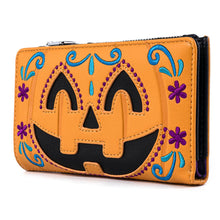 Load image into Gallery viewer, Loungefly Halloween Pumpkin Flap Wallet Back