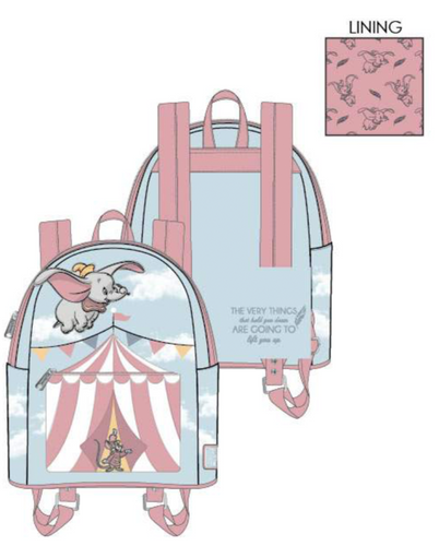 Loungefly Disney Dumbo Flying Circus Tent Mini Backpack - Pre-Order February