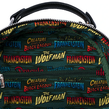 Load image into Gallery viewer, Loungefly Universal Monsters Chibi AOP Mini Backpack Inner View
