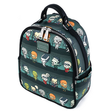 Load image into Gallery viewer, Loungefly Universal Monsters Chibi AOP Mini Backpack Top Side View