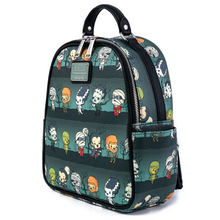 Load image into Gallery viewer, Loungefly Universal Monsters Chibi AOP Mini Backpack Side View