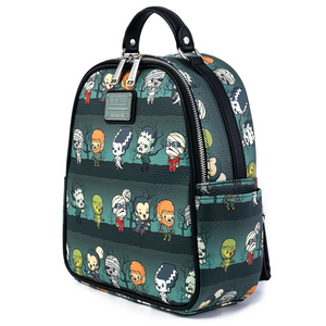 Loungefly Universal Monsters Chibi AOP Mini Backpack Side View