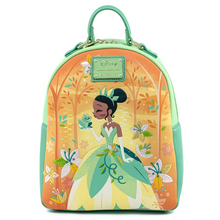 Load image into Gallery viewer, Loungefly Disney Princess and the Frog Tiana Mini Backpack Front