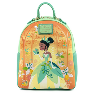 Loungefly Disney Princess and the Frog Tiana Mini Backpack Front