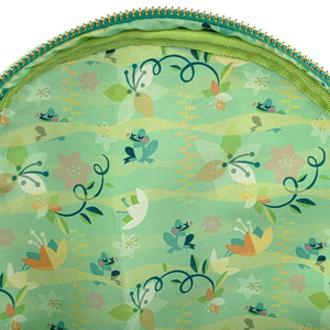 Loungefly Disney Princess and the Frog Tiana Mini Backpack Inside