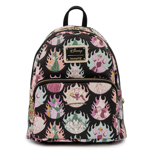 Loungefly Disney Villains Pastel Flames AOP Mini Backpack - Pre-Order May