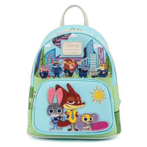 Loungefly Disney Zootopia Chibi Group Mini Backpack - Pre-Order May