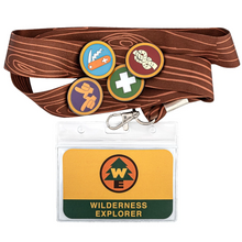 Load image into Gallery viewer, Loungefly Pixar Up Wilderness Explorer Lanyard With Cardholder & 5 Enamel Pins