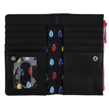 Load image into Gallery viewer, Loungefly Disney NBC Christmas Jack Cosplay Flap Wallet Interior View
