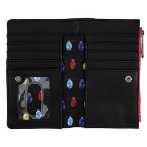 Loungefly Disney NBC Christmas Jack Cosplay Flap Wallet Interior View