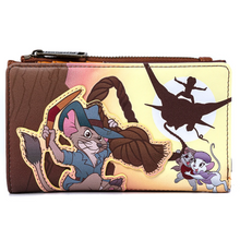 Load image into Gallery viewer, Loungefly Disney Rescuers Down Under Flap Wallet Front