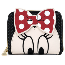 Load image into Gallery viewer, Loungefly Disney Minnie Mouse Bow Zip Around Wallet Front