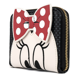 Loungefly Disney Minnie Mouse Bow Zip Around Wallet Side