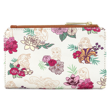 Load image into Gallery viewer, Loungefly Disney Princess Floral All Over Print Wallet Back