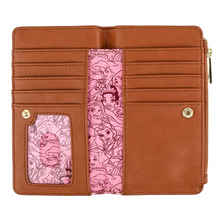 Load image into Gallery viewer, Loungefly Disney Princess Floral All Over Print Wallet Inside