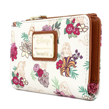 Load image into Gallery viewer, Loungefly Disney Princess Floral All Over Print Wallet Side