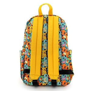 Loungefly Pokemon Starters AOP Nylon Backpack Back
