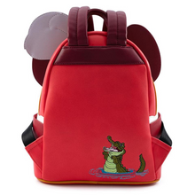 Load image into Gallery viewer, Loungefly Disney Captain Hook Cosplay Mini Backpack Rear View Aligator