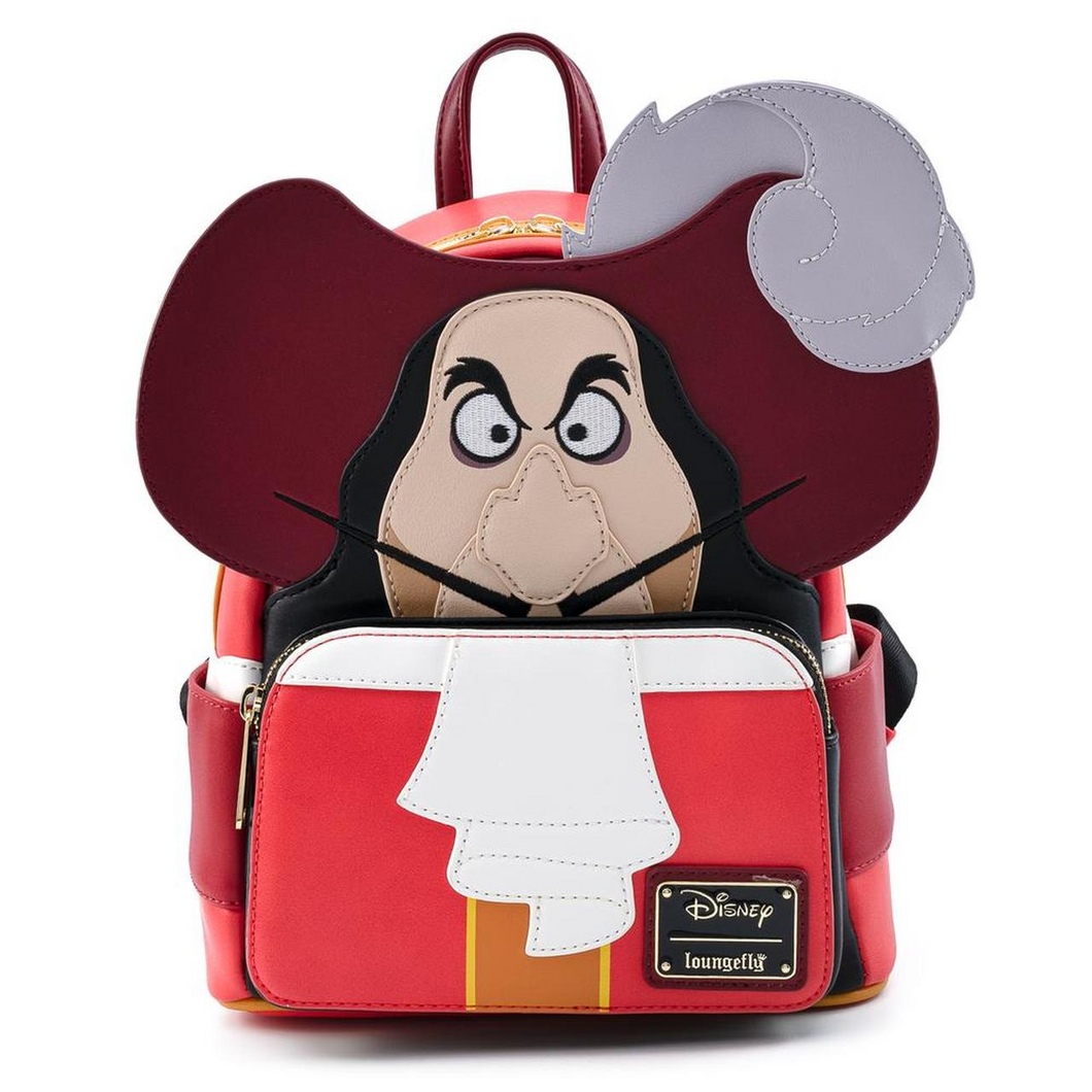 Loungefly Disney Captain Hook Cosplay Mini Backpack Front View