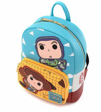 Load image into Gallery viewer, Loungefly Pop! Disney Pixar Toy Story Buzz and Woody Mini Backpack Top