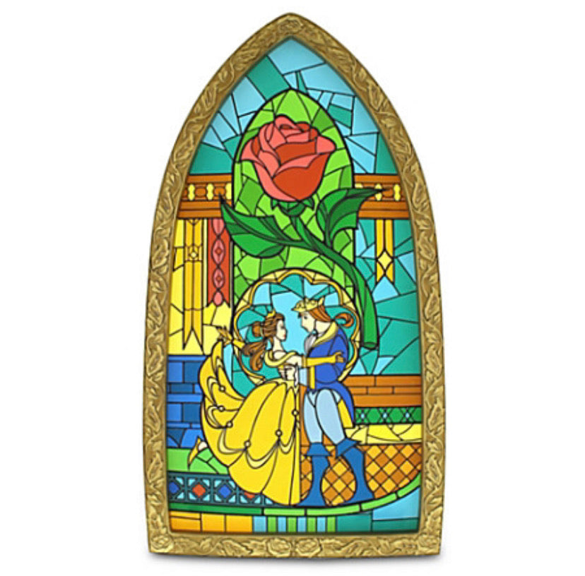 Disney Parks Beauty And The Beast Stained Glass Window Frame
