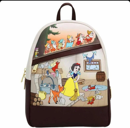 Loungefly Disney Snow White and the Seven Dwarfs Multi Scene Mini Backpack - Pre-Order February