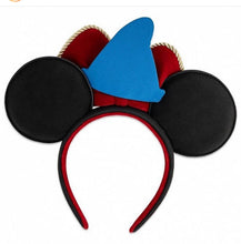 Load image into Gallery viewer, Loungefly Disney Sorcererer Mickey Ears and Handband Back